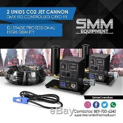 2 Pcs Co2 Jet Cannon CyroFx Dmx Controlled Dj Stage Professional High Quality