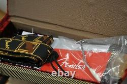 2013 Fender Select Stratocaster Elect Guitar Case Candy Ice Tea Burst Birds eye