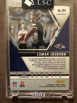 2020 Mosaic Choice Lamar Jackson SSP PEACOCK PRO BOWL RARE sp Ravens! /5 Gem Mt