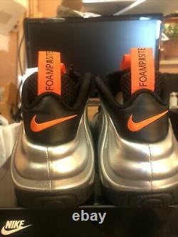 2020 Nike Foamposite Pro Halloween Silver Orange CT2286-001 MENS SIZE 9.5