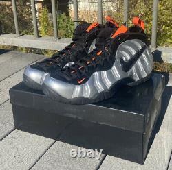 2020 Nike Foamposite Pro Halloween Silver Orange CT2286-001 Men New Size 15