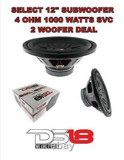 2x DS18 SLC-MD12.4D 12 pro Sub woofers Audio Speaker Dual Voice Coil 4 Ohm