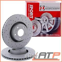 2x Zimmermann Sport Brake Disc Drilled Vented Ø348 Front Bmw 5 Series E60 E61