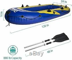 4-Person High Quality strength Marine Pro Inflatable Raft Floating Boat Raft Set