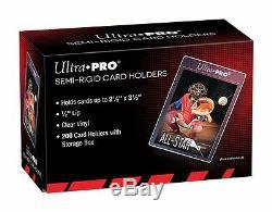 (50) Ultra-Pro SEMI RIGID Card Holders Flexible Sleeves Savers