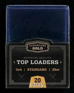 500 Ultra CBG Premium Standard Card Sized Toploaders Pro Top Loaders
