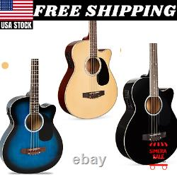 Acoustic Electric Bass Guitar High Quality Sound Beginner Professional Glossy