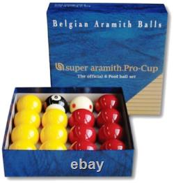 Aramith Pro Cup Red and Yellow 2 Inch Ball Set Tournament Quality Ball Set