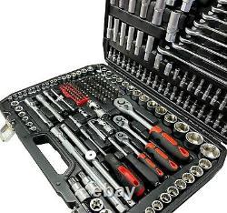 Autojack 216pc PROFESSIONAL Ratchet Socket Set 1/4 1/2 3/8 Tools PREMIUM QUALITY