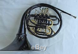 BLACK Bb/F Double FRENCH HORN Pro Quality Brand New Case and Accessories
