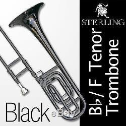 BLACK Bb/F Tenor TROMBONE High Quality Brand New in Case Semi-Pro Level