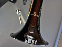 BLACK Sterling Bb CORNET With Carry Case BRAND NEW Pro Quality