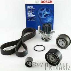 BOSCH Zahnriemen 1987949603 + Rollensatz Wasserpumpe Audi Seat Skoda VW 2.0 TDI