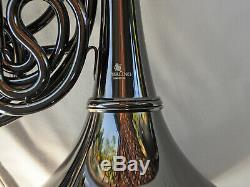 Bb/F Double FRENCH HORN Black Nickel STERLING PRO QUALITY BRAND NEW Case