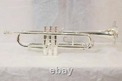 Bb Trumpet Silver Plated Pro Master Choice with Hard case And Mp Heavy Sale