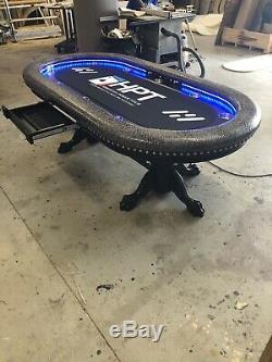Custom built 4' x 8' professional quality poker tables