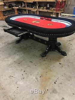 Custom built 4' x 8' professional quality poker tables By kandjpokertables. Com