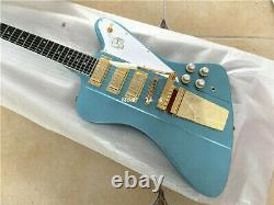 Customized Firebird Style 6 Strings Electric Guitar Solid Blue Body High Quality