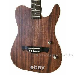 Customized Top Quality 39 Inch Solid Body Folk TL Shape Electric Acoustic Guitar