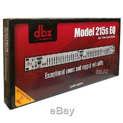DBX 215S Dual 15-Band Professional Quality Graphic EQ Equalizer 691991401220