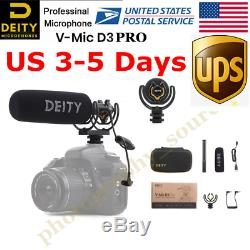Deity V-Mic D3 Pro Broadcast Quality Super-Cardioid Shotgun Microphone for DSLR