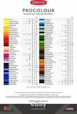 Derwent Procolour Professional Quality Artists Colour Pencil Tin Set of 72 NEW