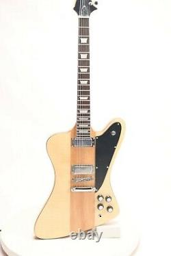 Firebird Style Natural Color Electric Guitar Top Quality 6 Strings Solid Body