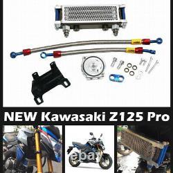 Fit Kawasaki Z125 Pro 2017-2021 Oil Cooler High Quality Performance Aluminium