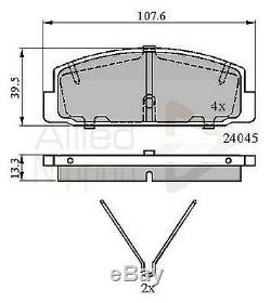 For Mazda 6 Brake Discs & Pads Front + Rear 07-12 1.8 2.0 2.2 2.5 Mzr Mzr-cd Gh