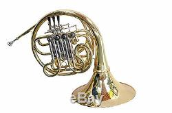 GOLD Bb/F Double FRENCH HORN STERLING Pro Quality Brand New With Case