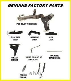 Glock Factory Trigger Parts Fits PF45 Lower (Choice Connector) P80 Flat Trigger