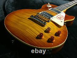 Good Quality Custom LP Electric Guitar Figured Maple Veneer Tobacco Finish