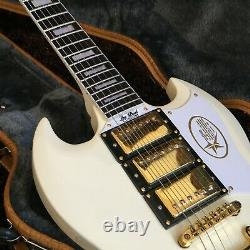 Guitar Factory Customized Electric Guitar High Quality Cream Color Fast Delivery