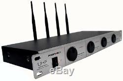 High Quality 4x Professional Dynamic UHF DJ/PA Wireless Microphone Effective 50M