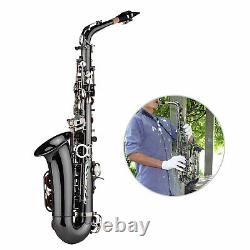 High Quality Brass Bend Eb E-flat Alto Saxophone Sax Black Nickel Plating H3O5