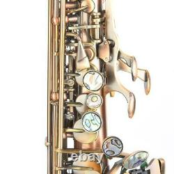 High Quality Professional Red Copper B Flat Soprano Straight Saxophone With Bag