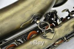 High quality Eb Antique Baritone Saxophone High F# Low A key with case