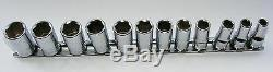Koken Quality Tools 3/8 Drive Set Of Semi Deep Metric Sockets 3300xm /12