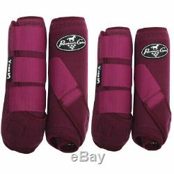 Large Professional Choice Smb 3 Front Rear Horse Sports Boots 4 Pack Wine U-WIN