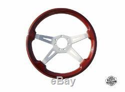 Lenkrad Holzlenkrad Sportlenkrad Original Fiat 380mm Braun 5899540 Edelholz Nos