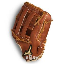 Mizuno Pro Select Leather Outfield 12.75 Deep Pocket Baseball Glove, Brown