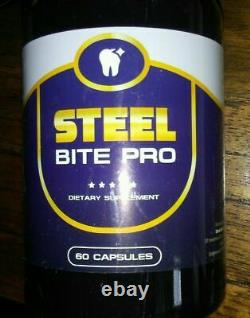 NEW Steel Bite Pro Teeth Supplement 60 capsules Exp. 2022 Quality -Same Day Ship