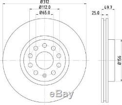 New Mintex Front Brake Discs And Pads Set Mdk0251 Free Anti-brake Squeal Grease