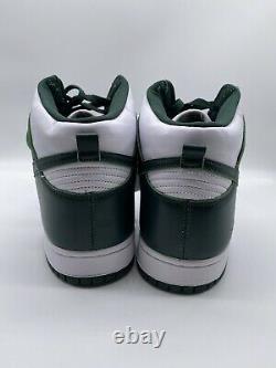Nike Dunk High SP White Pro Spartan Green CZ8149 100 Michigan State Size 14