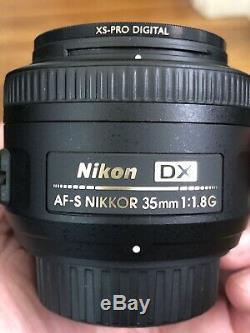 Nikon AF-S DX Nikkor 35mm F/1.8G Prime Lens Includes B+W XS-Pro Filter Mint