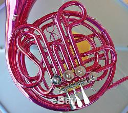 PINK Sterling Bb/F Double FRENCH HORN Pro Quality Brand New With Case