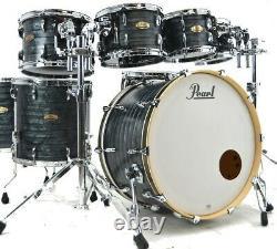 Pearl Session Studio Select 7 Piece Drum Set/Molten Matte Black Pearl/#762/New