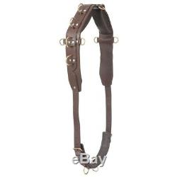 Performers 1st Choice Pro Heavy Leather Training Surcingle Rings Dees Horse Size