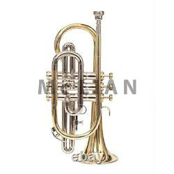 Professional Bb Cornet Brass Nickel S2 Expert's Choice with Case and Mouthpiece