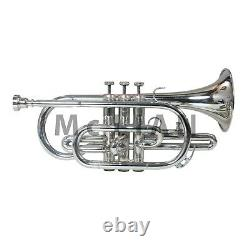 Professional Bb Cornet Nickel Expert's Choice with Hard Case and Mouthpiece